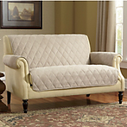 Diamond-Quilted, Faux Suede Furniture Protectors