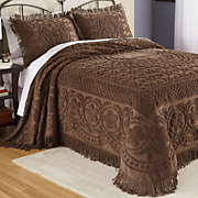 emily chenille throw bedspread and sham