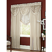 Anna Faux Silk Panels Valances and Tie up Shade