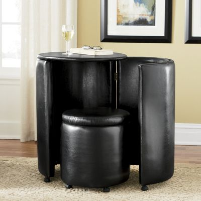 Space Saver Table and Stool Storage Set