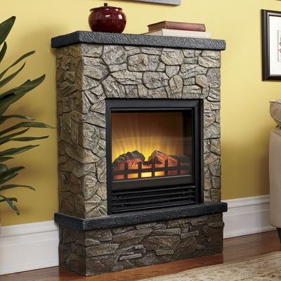 Faux Stone Electric Nook Fireplace
