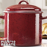 12 qt steel stockpot with speckled porcelain exterior with 10 rebate by paula deen