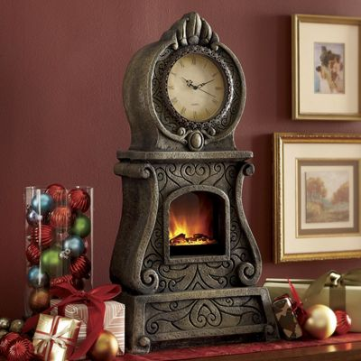Conversation Piece Clock Fireplace