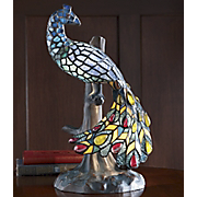 Stained Glass Lamp Peacock