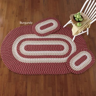 Braided 3-Piece Rug Set