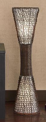 Woven Wicker Floor Lamp
