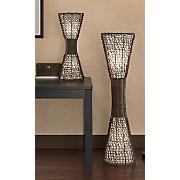 Woven Wicker Lamps