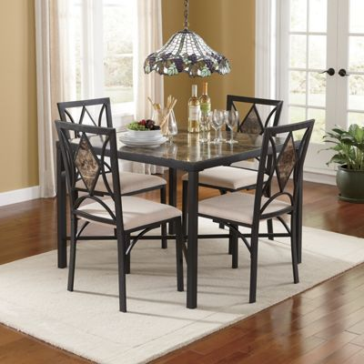 5-Piece Marbleous Table Set