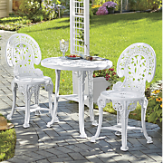 3 Pc Crown Resin Bistro Set