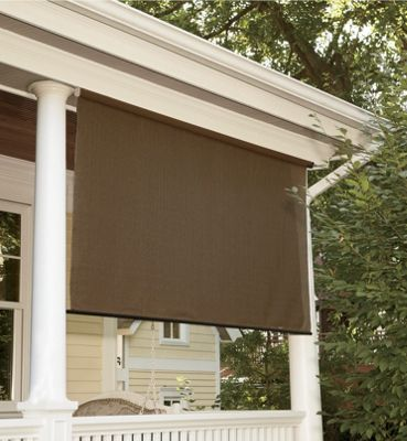 Heat and uv blocking indoor outdoor sun shades from - Exterior sun blocking window shades ...