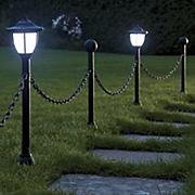 set of 2 solar border lanterns