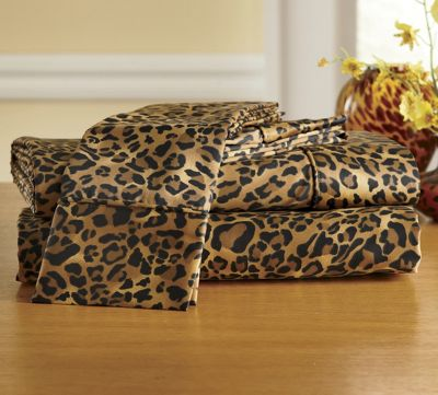 300-Thread Count Leopard Sheets