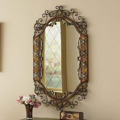 Ornate Metal Mirror