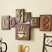 Arte de pared, diseño de cafetería