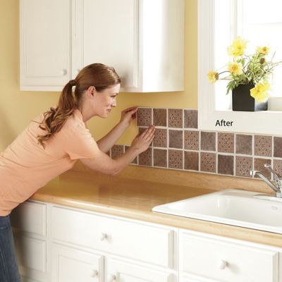 Medallion Self-Stick Backsplash Tiles