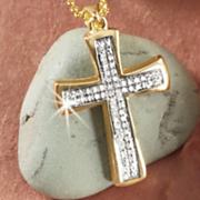 cross frame pendant