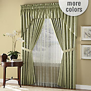 energy saving tuscany jacquard thermal draperies in pinch pleat pole top