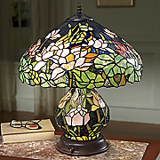 Lamp Ornate Stained With Night Light