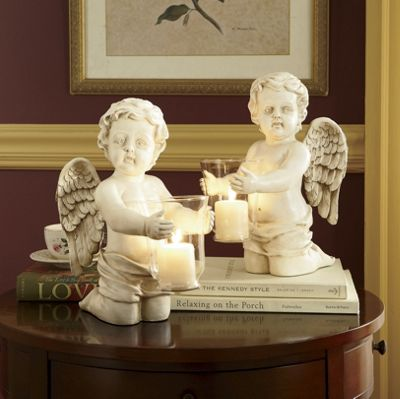 Set of 2 Cherub Candleholders
