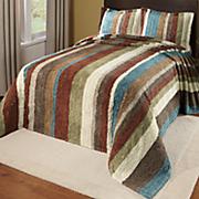 Striped Cotton Chenille Collection Bedspread & Sham