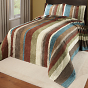 Striped Cotton Chenille Collection Bedspread & Sham
