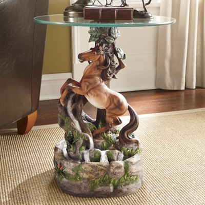 Wild & Free Stallion Fountain Table