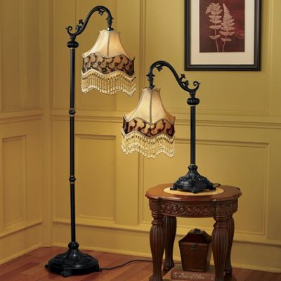 Victorian Shade Table and Floor Lamps from Seventh Avenue