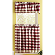 Buffalo Check Kitchen Window Treatments