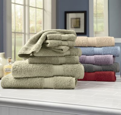Oversized Egyptian Cotton 8-piece Set by Montgomery Ward Comfort Creek Towels
