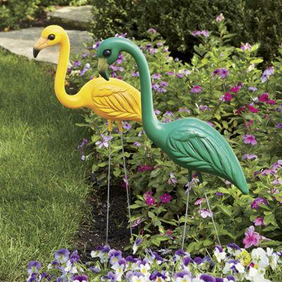 Green and Yellow Flamingo Set