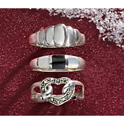 3 Pc Sterling Silver Ring Set