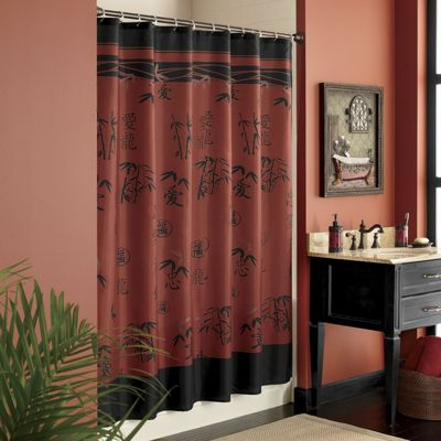 Asian & Bamboo Shower Curtain