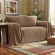 Textured Plush Furniture Throw
