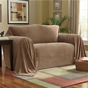 Textured Plush Furniture Throw