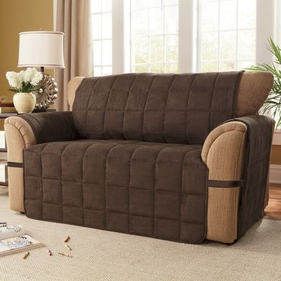 Box quilted faux suede ultimate furniture protectors from for Forros para sofas