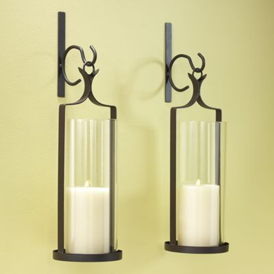 Candle Wall Sconces For Bathroom : Set of 2 Wall Sconces from Through the Country Door NI53280