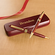 personalized rosewood pen pencil set 18