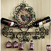 Blasio Wall Wine and Stemware Holder