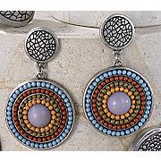 Post Earrings Multistrand Medallion Earrings
