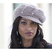 Hand Knit Crystal Cap