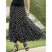 you dot it all georgette skirt