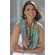 feather leopard scarf
