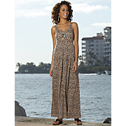 Shelf Bra Animal Maxi Dress