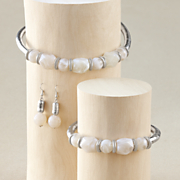 faux stone coil jewelry set