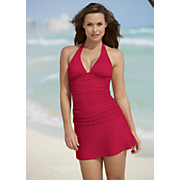 ruched halter tankini