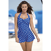 Polka Dot Swimdress 1