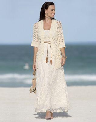 Mesh Crochet Dress