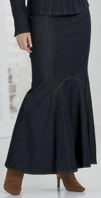 Tulip Denim Skirt