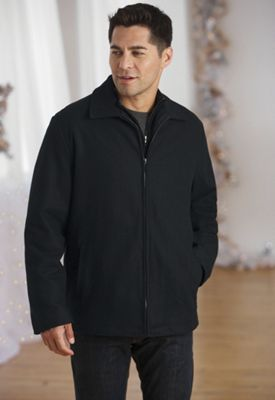Men's Wool-blend Zip Jacket