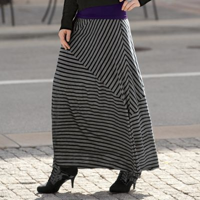 Every Which Way Striped Maxi Skirt